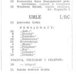 מספר כתובת 1938
